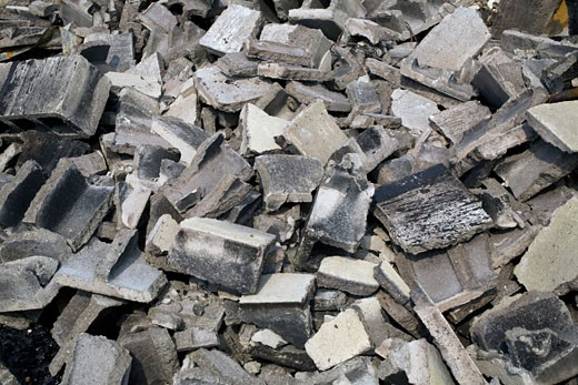 Concrete rubble : Stock Photo