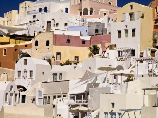 Houses, Santorini, Greece   : Stock Photo