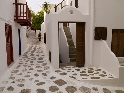 Buildings, Mykonos, Greece : Stock Photo