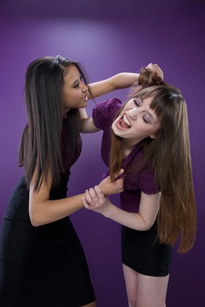 Two women fighting : Stock Photo