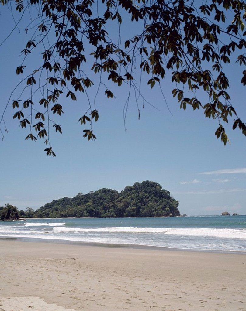 Stock Photo: 1889R-46444 Beach, Manuel Antonio National Park, Costa Rica