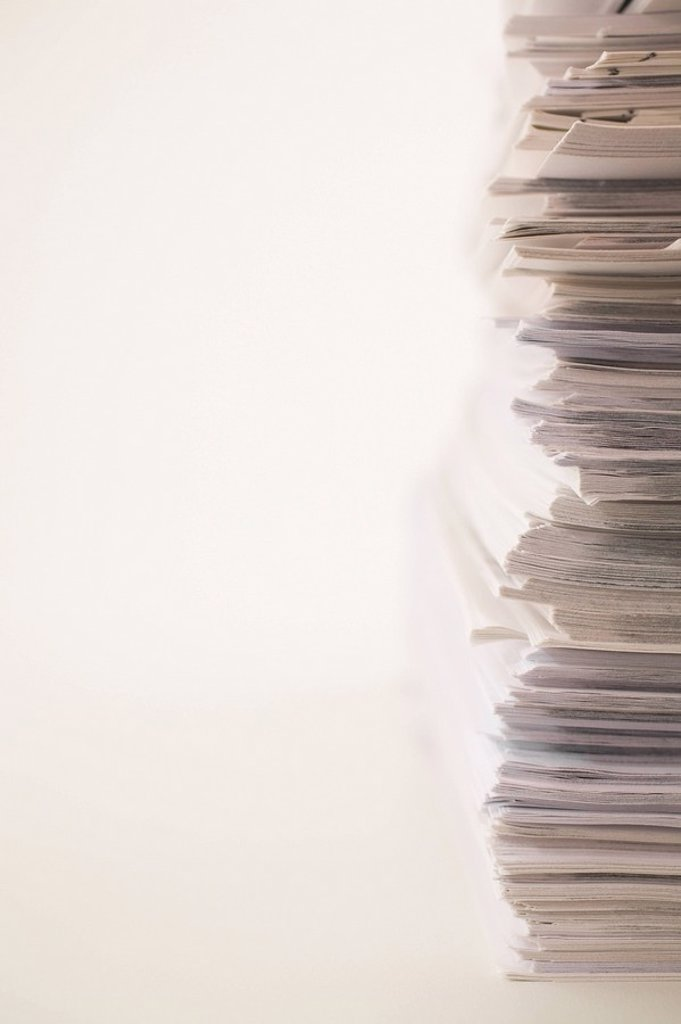 Stock Photo: 1889R-46681 A stack of office paper