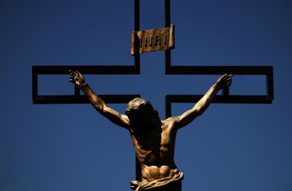 A bronze crucifix : Stock Photo