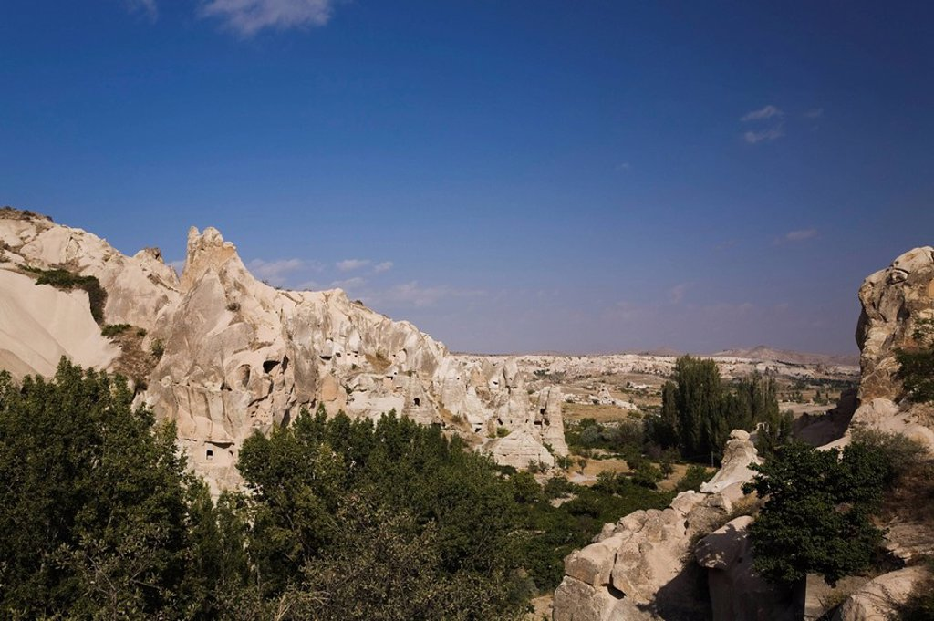 Stock Photo: 1889R-47304 Goreme Valley, Cappadocia, Turkey, Rock_cut cave dwellings