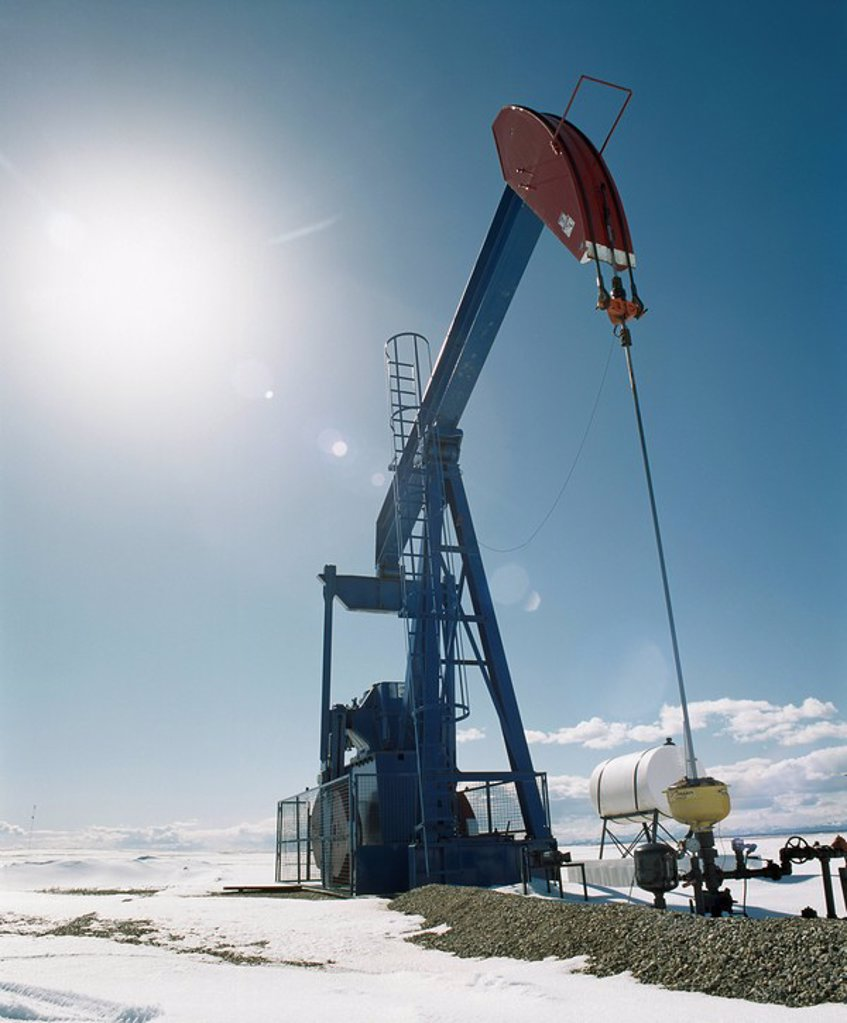 Pump Jack, Alberta, Canada : Stock Photo