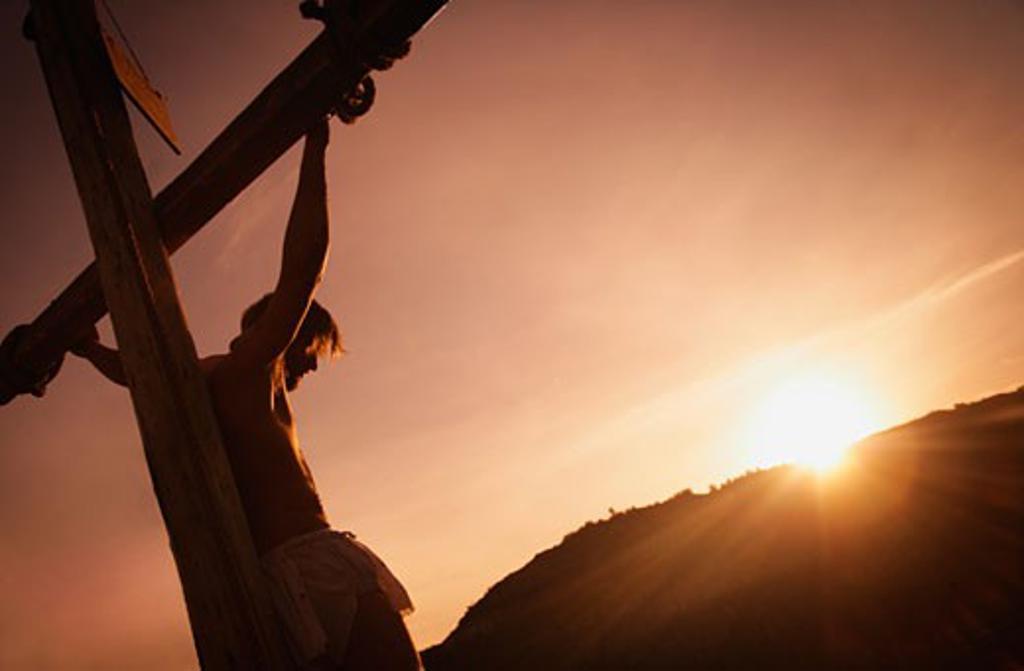 Jesus on cross : Stock Photo