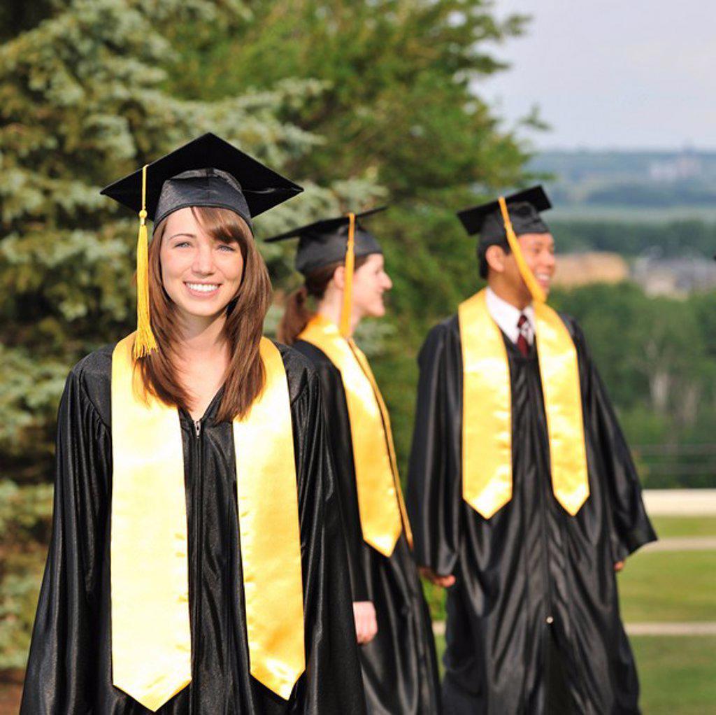 Stock Photo: 1889R-47789 Portrait of a graduate