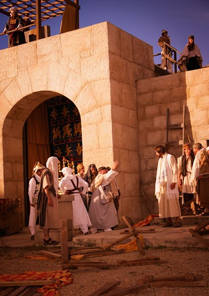 Crowd with Jesus : Stock Photo