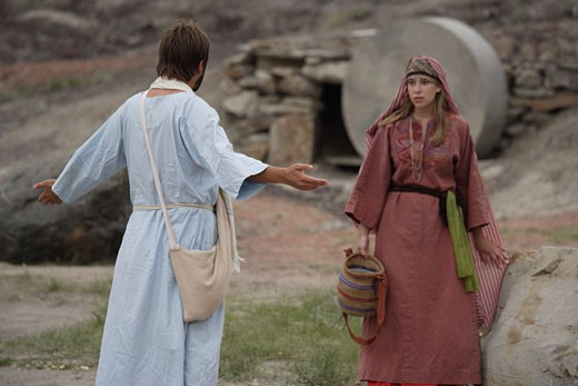 Stock Photo: 1889R-4813 Jesus appears to Mary