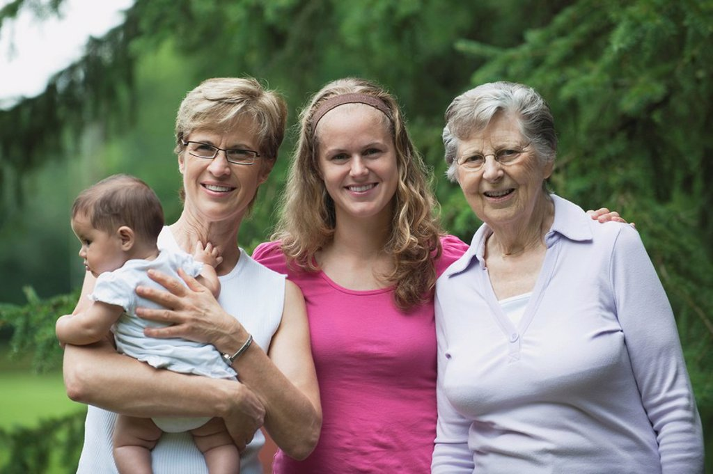 Stock Photo: 1889R-48149 Four generations of women