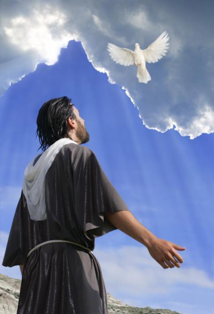 Jesus Baptism : Stock Photo