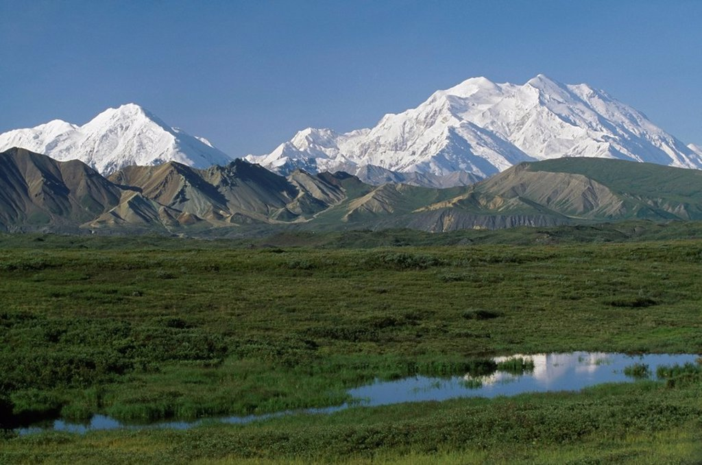 Stock Photo: 1889R-48570 Mount McKinley, Denali National Park, Alaska, United States of America