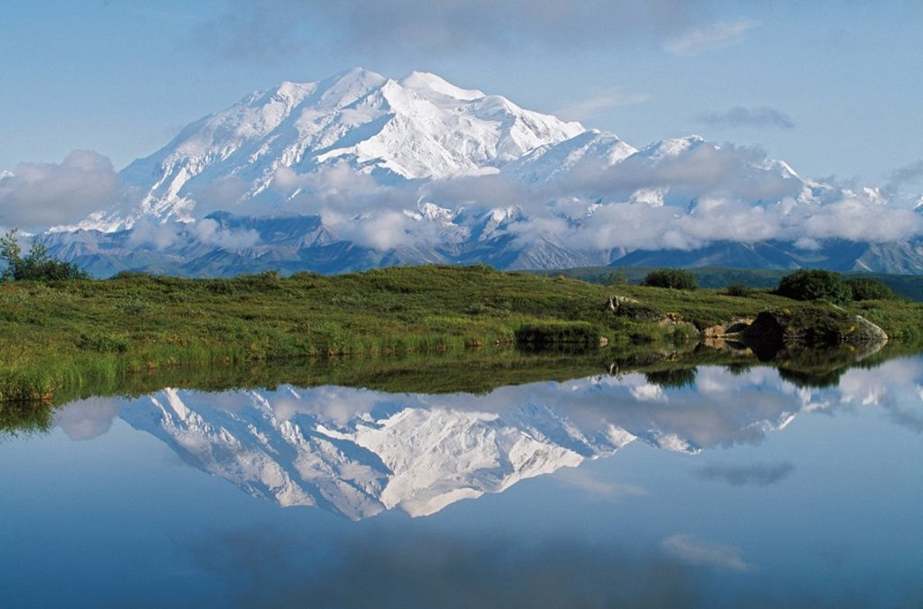 Stock Photo: 1889R-48571 Mount McKinley, Denali National Park, Alaska, United States of America
