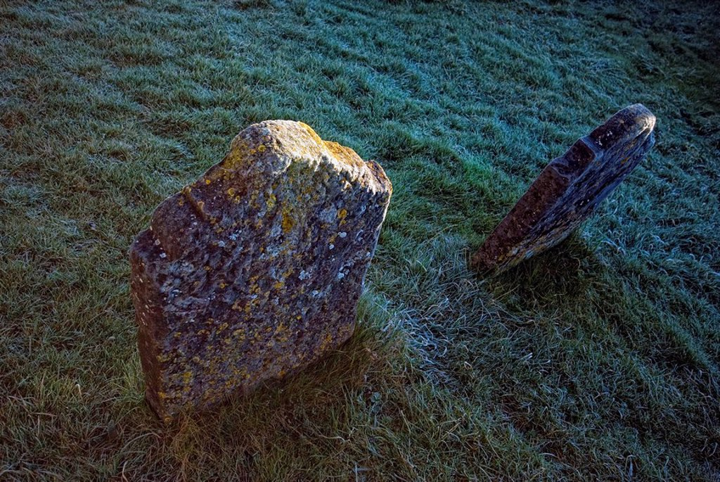 Stock Photo: 1889R-49103 Two stones in the ground
