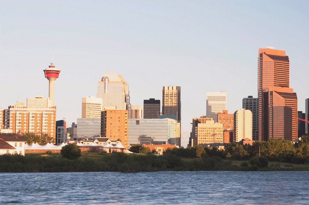 Skyline of Calgary, Alberta, Canada : Stock Photo
