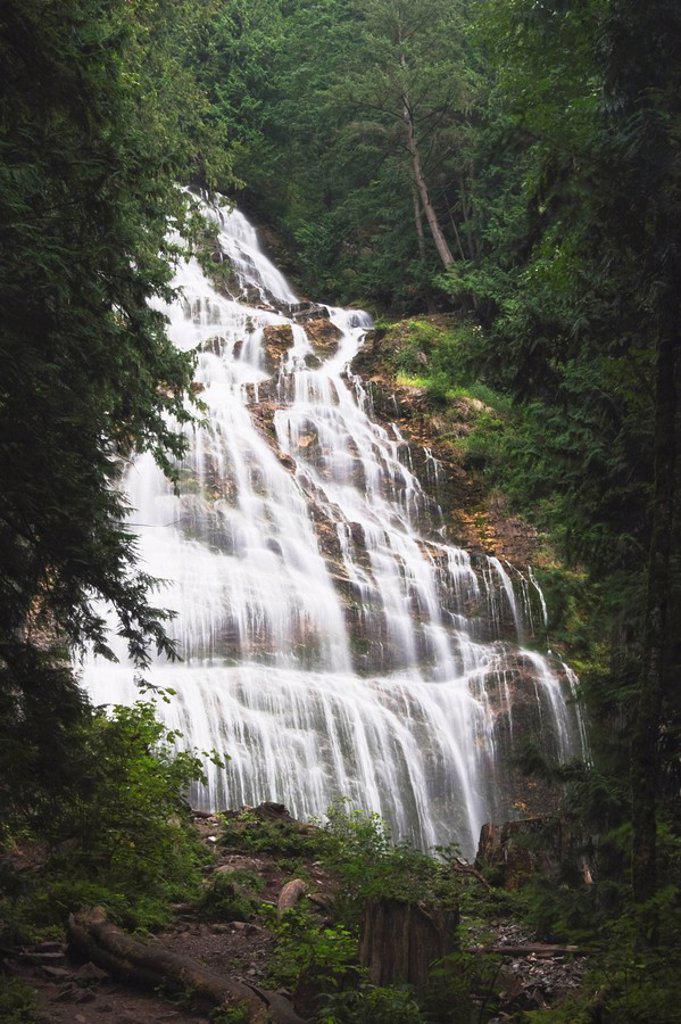 Stock Photo: 1889R-49579 Bridal Veil Falls, British Columbia, Canada