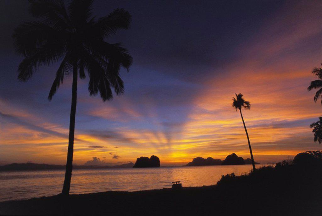 Stock Photo: 1889R-50151 sunrise, koh ngai, trang islands, thailand