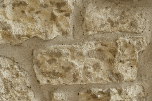 Closeup of a stone wall : Stock Photo
