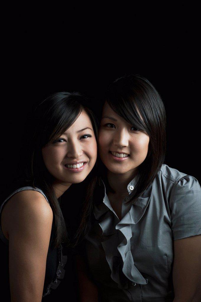 friendship between two young women : Stock Photo