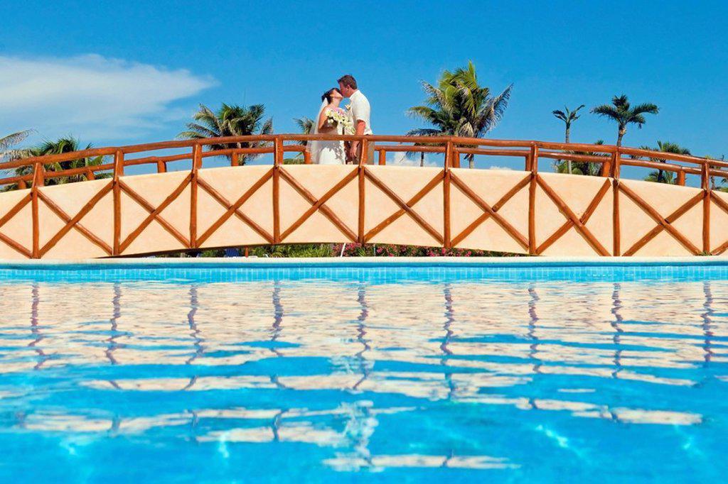 Stock Photo: 1889R-53177 mayan riviera, akumal, mexico, wedding at gran bahia principe tulum all_inclusive resort