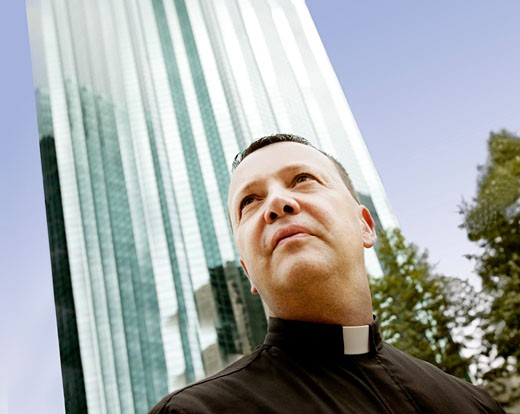 Portrait of a priest : Stock Photo
