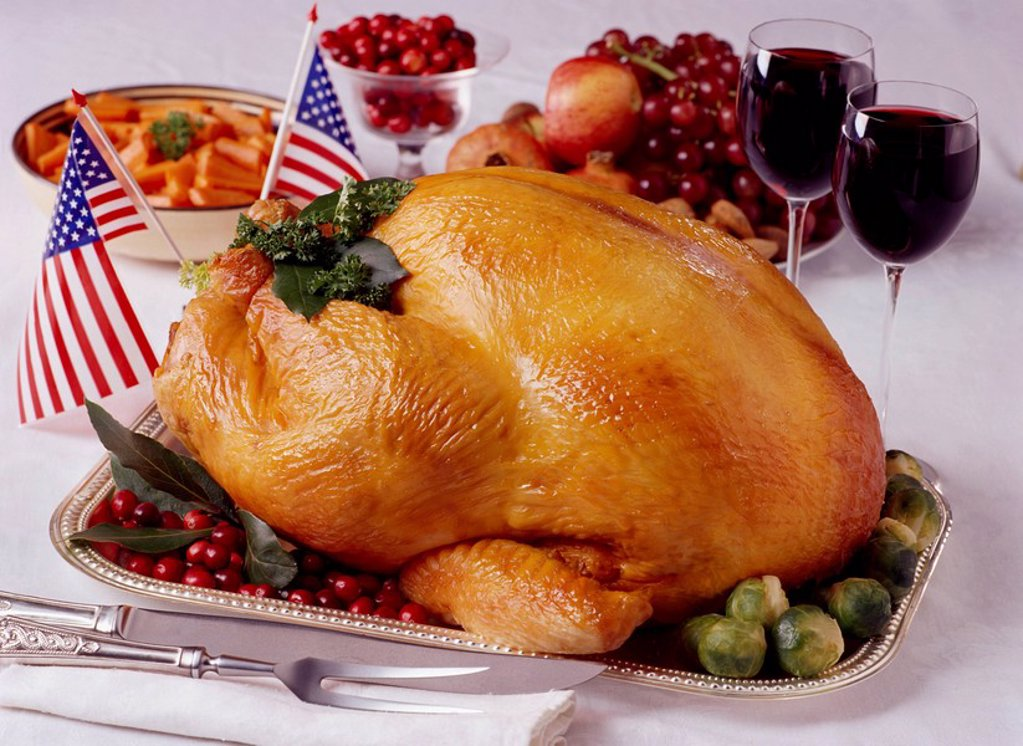 Stock Photo: 1889R-54104 Thanksgiving dinner