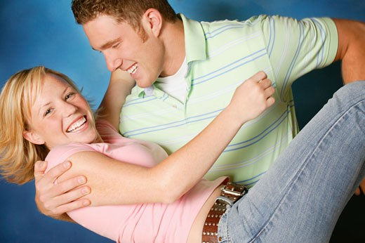 Stock Photo: 1889R-5416 Couple play fight