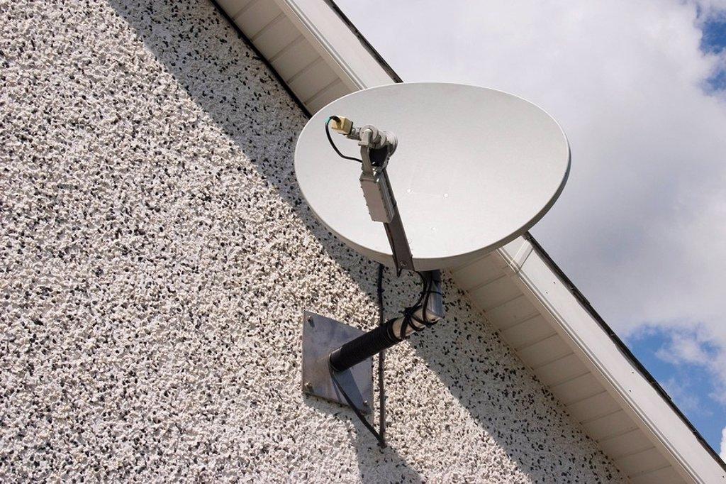 Broadband Satellite Dish, Ireland : Stock Photo