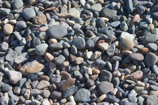 Stock Photo: 1889R-5453 Washed pebbles