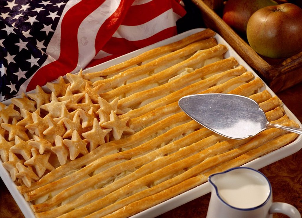 American apple pie : Stock Photo