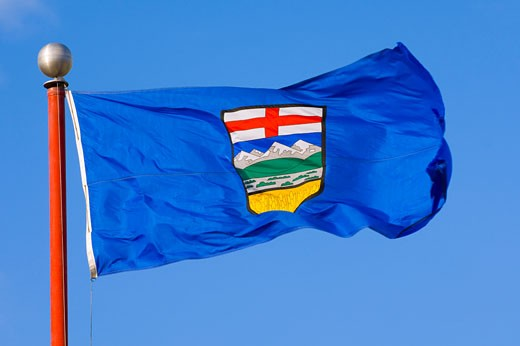Stock Photo: 1889R-5478 Alberta's provincial flag