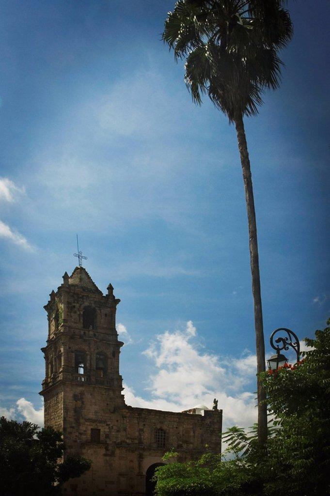 Stock Photo: 1889R-54858 Copala, Mexico, An Old Church