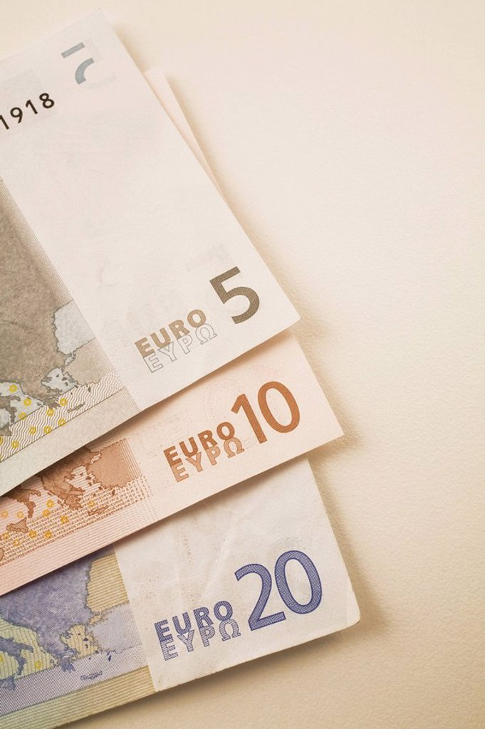 Stock Photo: 1889R-56560 euro currency bank notes