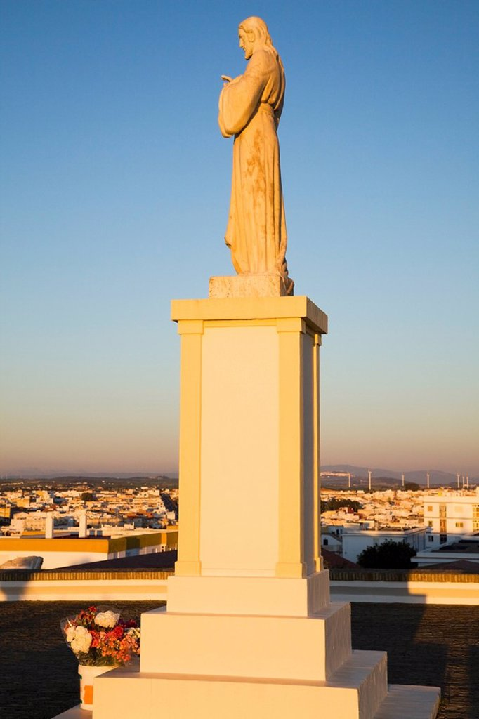 Chiclana, Andalusia, Spain, A Statue Of Jesus : Stock Photo