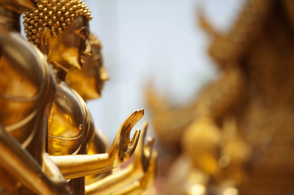 Stock Photo: 1889R-61249 Buddha´s Hands Stretched Out At Doi Sutep Temple, Chiang Mia, Thailand