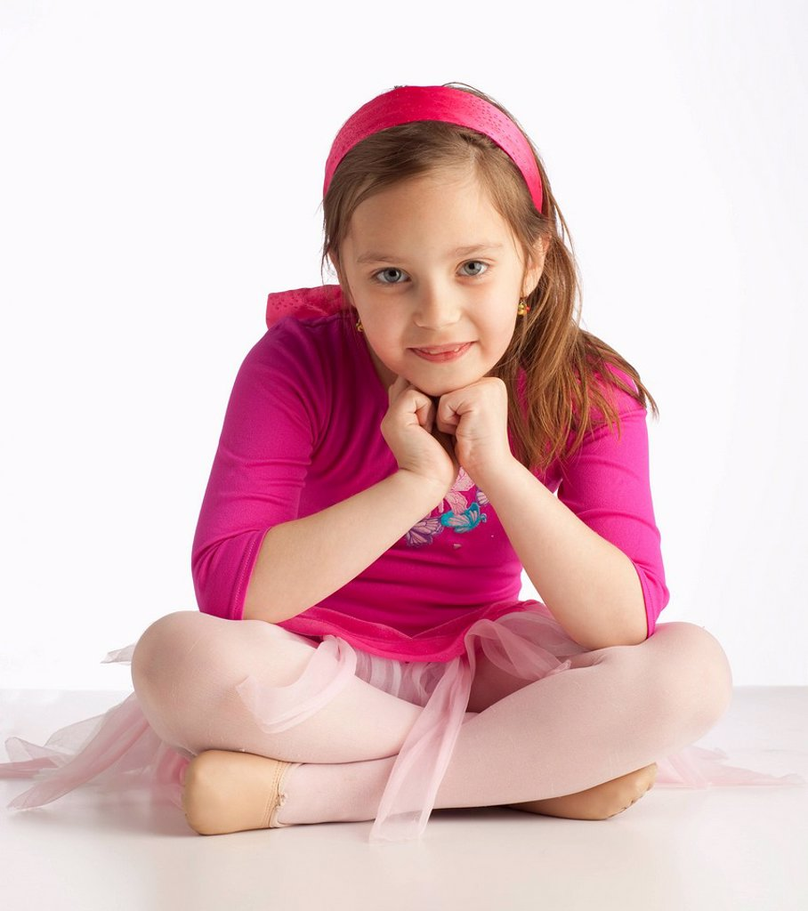 Stock Photo: 1889R-61586 A Young Ballerina