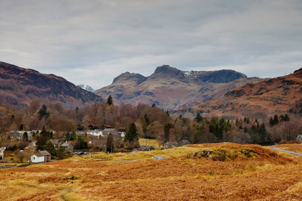 Stock Photo: 1889R-64632 mountain landscape, langdale, cumbria, england