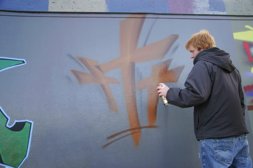 Religious graffiti : Stock Photo