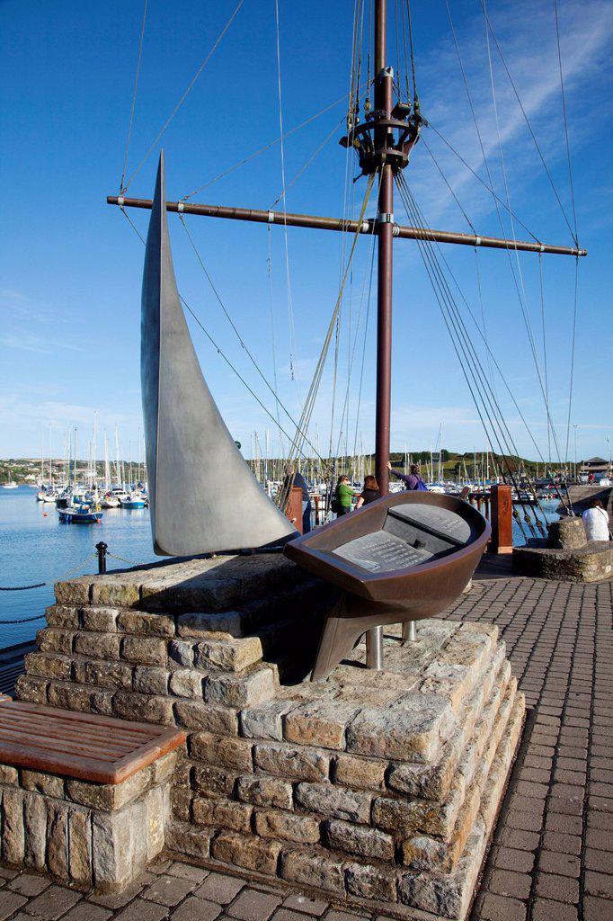 Nautical Sculpture, Kinsale, County Cork, Ireland : Stock Photo