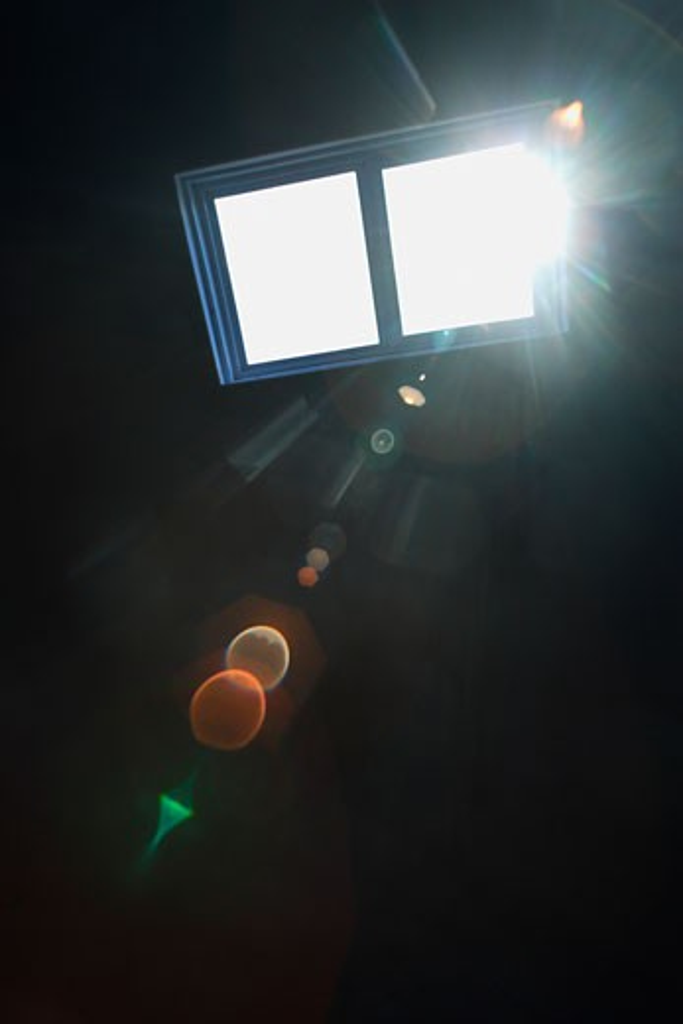 Light shining through a window : Stock Photo