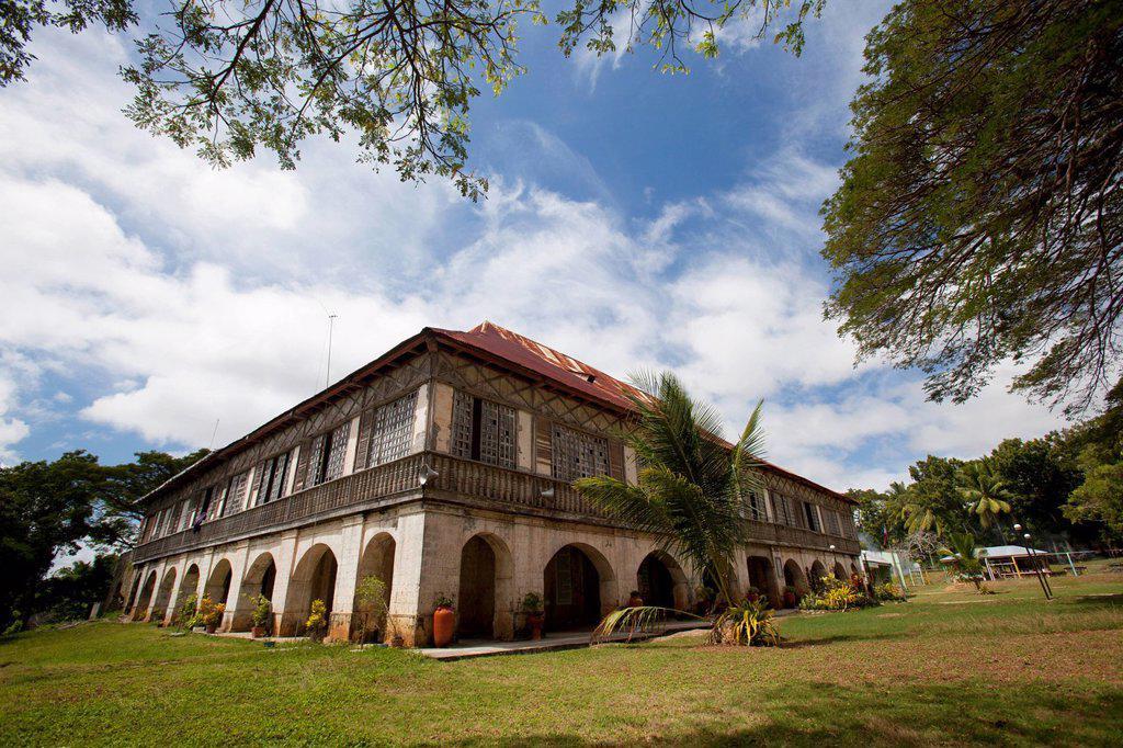 san antonio de padua church and monastery, lazi, siquijor, philippines : Stock Photo