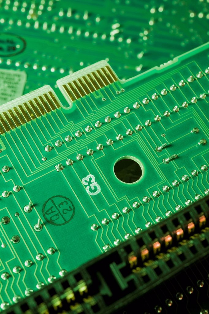 Stock Photo: 1889R-67760 computer circuit boards