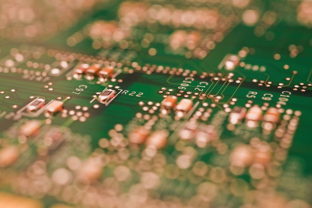 computer circuit board : Stock Photo