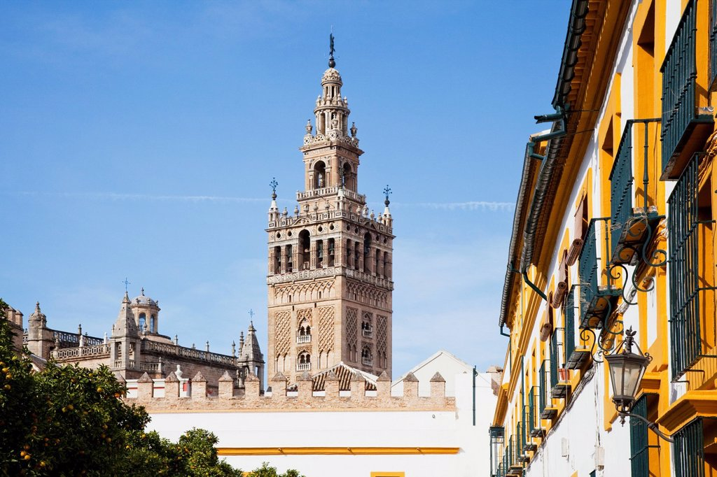 buildings in the city of sevilla, sevilla, andalusia, spain : Stock Photo