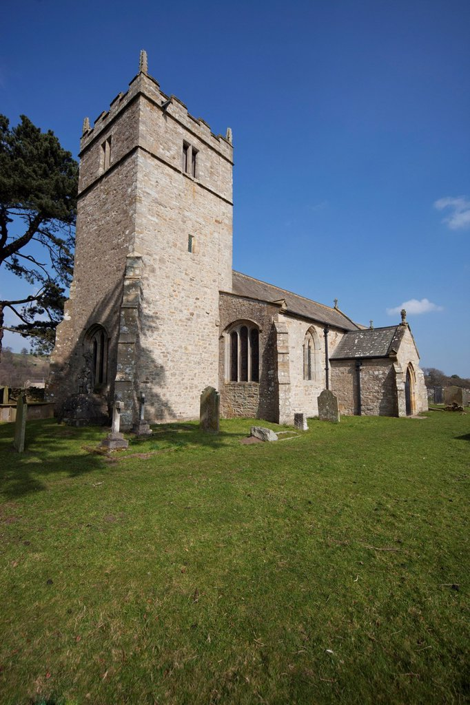 Stock Photo: 1889R-67981 holy trinity church, coverham yorkshire england