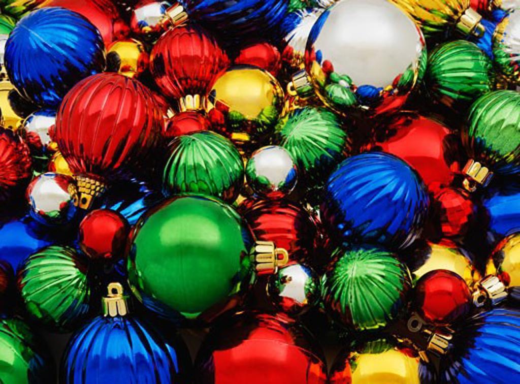 Closeup of Christmas decorations : Stock Photo