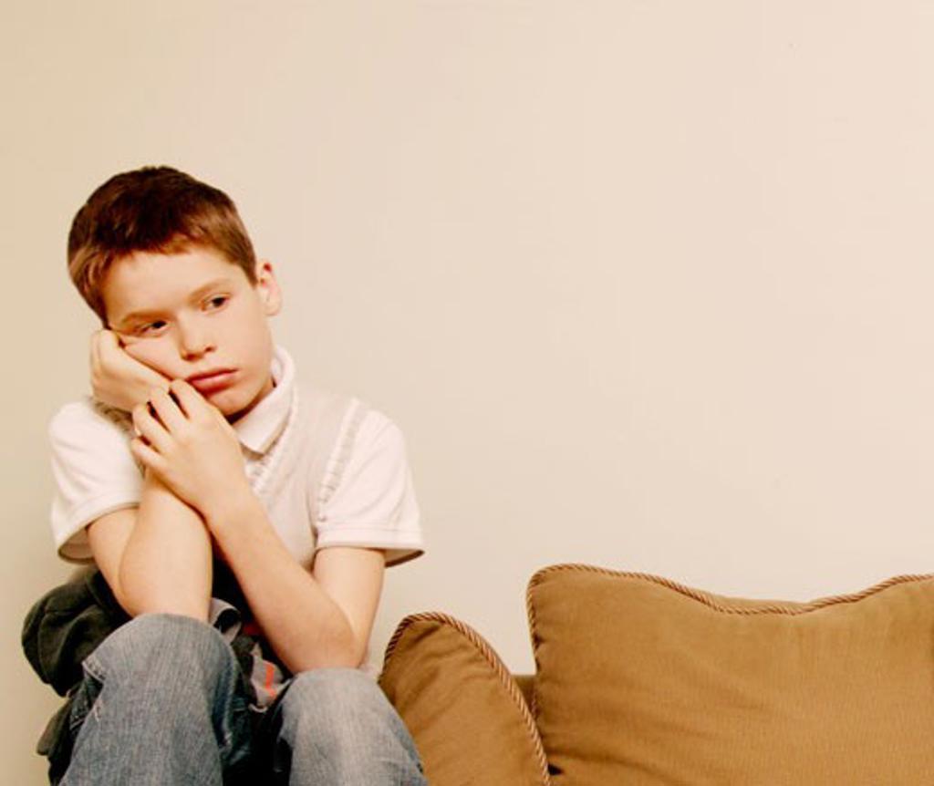 Child feeling sad : Stock Photo