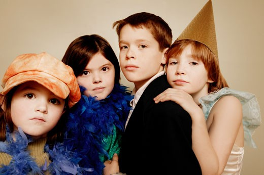 Children playing dress-up : Stock Photo