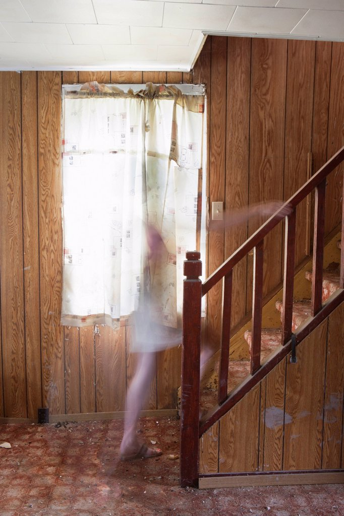 Stock Photo: 1889R-70817 ghost on the stairs, thunder bay ontario canada