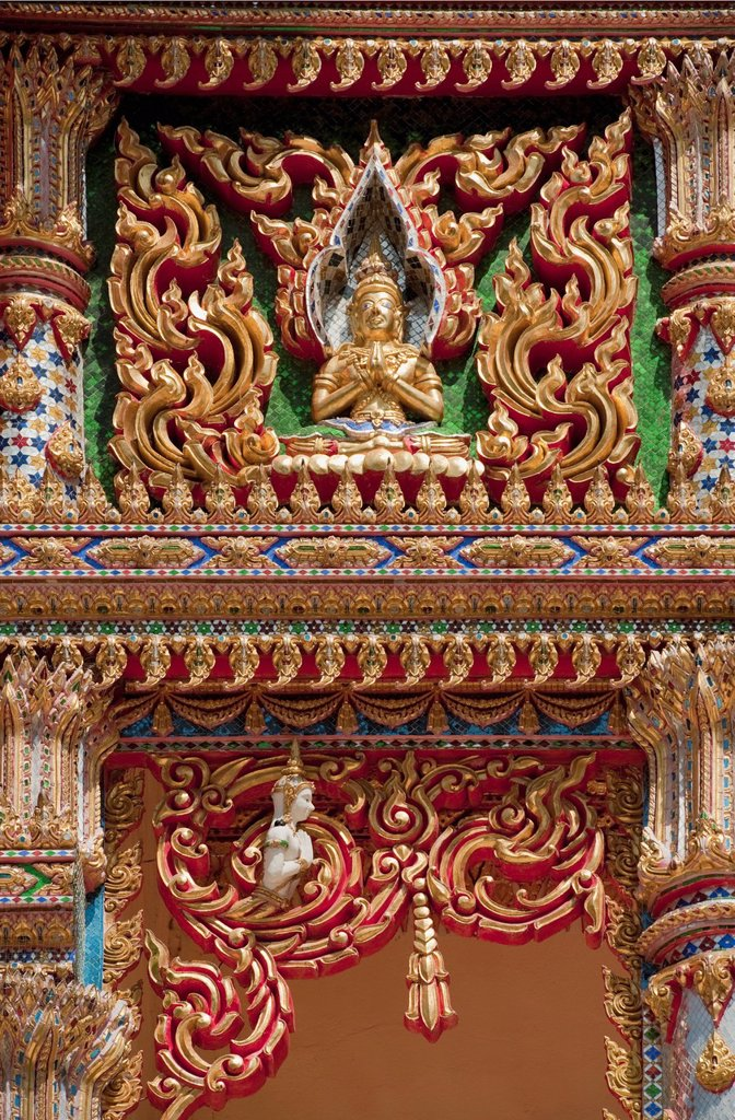 Stock Photo: 1889R-71077 buddhist stucco, prachuap kiri khan prachuap province thailand